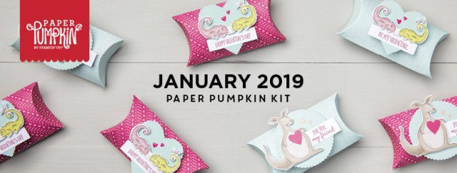 The January 2019 Be Mine Valentine Paper Pumpkin kit. #stampyourartout #stampinup - Stampin' Up!® - Stamp Your Art Out! www.stampyourartout.com