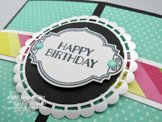 More fun Pop Out Gate-Fold cards! I created them using products in the How Sweet It Is suite, Pearlized Doilies (available for purchase, but ALSO available in a two-pack as a freebie during Sale-a-Bration), and Glitter Enamel Dots. Click here to learn more and get the details for recreating these sweet fun fold cards! #stampyourartout #stampinup - Stampin' Up!® - Stamp Your Art Out! www.stampyourartout.com