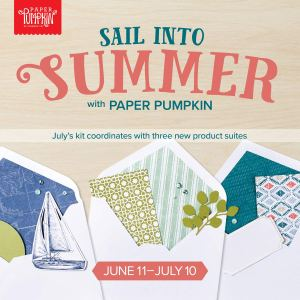 Coordinate with three product suites with the July 2019 Paper Pumpkin kit! #stampyourartout #onestopbox #stampinup - Stampin' Up!® - Stamp Your Art Out! www.stampyourartout.com