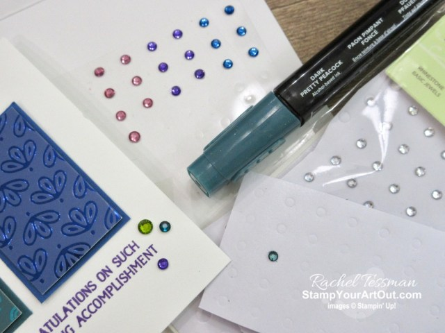 I've made a couple tri-panel cards with the retiring Noble Peacock Specialty Designer Paper, some coordinating cardstock, a positioning template, two great stamp sets (Well Said and Royal Peacock), and the Noble Peacock Rhinestones. Click here to get measurements, directions, and a supply list linked to my online store. #stampyourartout #stampinup - Stampin' Up!® - Stamp Your Art Out! www.stampyourartout.com