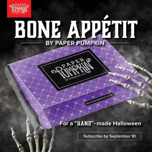 "Sign up by September 10th to get this next exclusive Paper Pumpkin Kit! The September 2019 kit includes 20 food-safe treat boxes, a unique and exclusive Halloween stamp set, and a spooky, special-edition box. September's kit also gives new meaning to the word ""handmade."" #onestopbox #stampyourartout #stampinup - Stampin' Up!® - Stamp Your Art Out! www.stampyourartout.com"