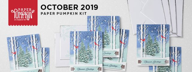 The October 2019 Winter Woods Paper Pumpkin Kit. - Stampin' Up!® - Stamp Your Art Out! www.stampyourartout.com