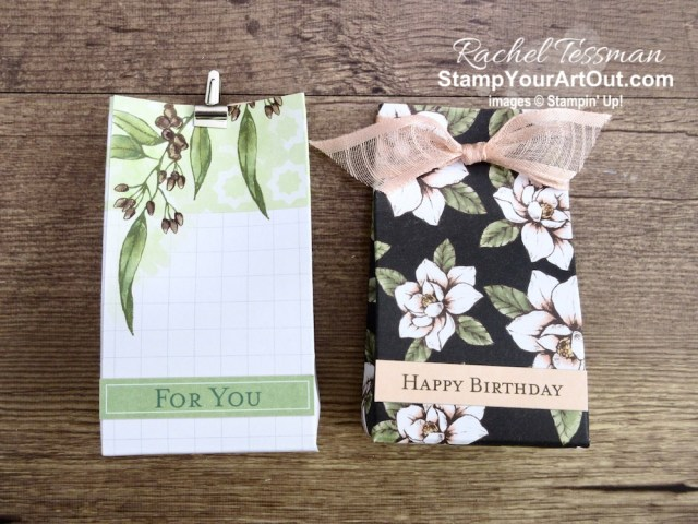 I made 4 sweet treat containers with the Magnolia Lane Memories & More Cards. Access directions, measurements and a list of supplies I used linked to my online store. - Stampin' Up!® - Stamp Your Art Out! www.stampyourartout.com