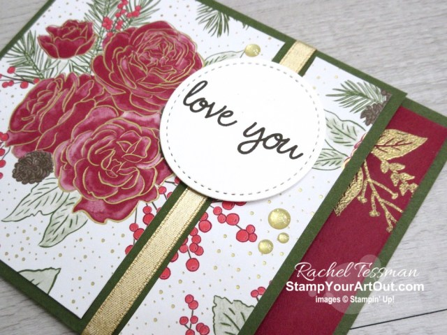 This beautiful Christmastime is Here Designer Paper does not have to be used for Christmas only. Here are a couple cards I made using this paper and images from the Sweetly Swirled Stamp Set. Click here to watch my video so you can see all my tips and tricks and get the step-by-step directions.  You'll also be able to access measurements, see other close-up photos, and get links to all the products I used.  - Stampin' Up!® - Stamp Your Art Out! www.stampyourartout.com