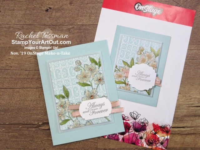 This was my favorite make-n-take at Stampin' Up!'s November 2019 OnStage. Click here to access measurements, directions, and a list of supplies I used linked to my online store (available on January 3, 2020)! - Stampin' Up!® - Stamp Your Art Out! www.stampyourartout.com