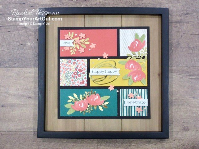 """Click here to see & get details for a beautiful birthday sampler framed décor piece and a super simple thinking of you card that I made with the December 2019 Something for Everything Paper Pumpkin Kit. Plus you can see several other alternate project ideas created with this kit in our blog hop: """"A Paper Pumpkin Thing""""! - Stampin' Up!® - Stamp Your Art Out! www.stampyourartout.com"""