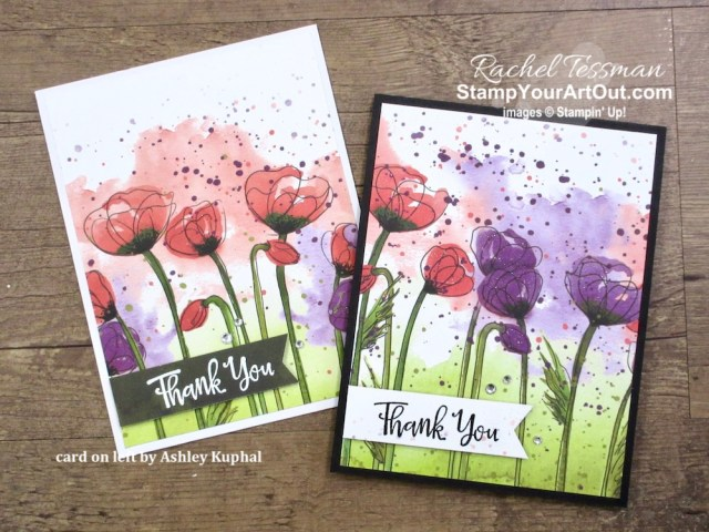 Beautiful and super easy greeting cards created with Peaceful Poppies Designer Paper, Peaceful Moments Stamp Set, Wink of Stella, Rhinestones, and embossing tools. Click here for photos of all the cards, the supplies I used, measurements, and directions. - Stampin' Up!® - Stamp Your Art Out! www.stampyourartout.com