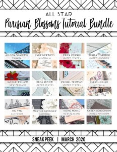 Here are the Parisian Blossoms All Star Tutorial Bundle Peeks. Place an order in the month of March 2020 and get this bundle of fabulous paper crafting project tutorials for free! Or purchase it for just $15. - Stampin' Up!® - Stamp Your Art Out! www.stampyourartout.com