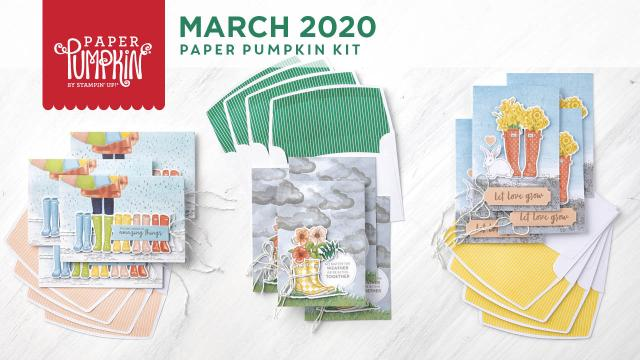The March 2020 No Matter The Weather Paper Pumpkin Kit. - Stampin' Up!® - Stamp Your Art Out! www.stampyourartout.com