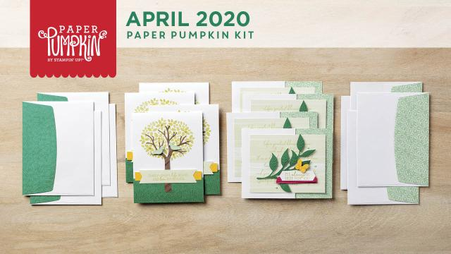 The April 2020 My Wonderful Family Paper Pumpkin Kit. - Stampin' Up!® - Stamp Your Art Out! www.stampyourartout.com
