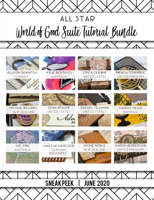 Here are the World of Good All Star Tutorial Bundle Peeks. Place an order in the month of June 2020 and get this bundle of 12 fabulous paper crafting project tutorials for free! Or purchase it for just $15. - Stampin' Up!® - Stamp Your Art Out! www.stampyourartout.com