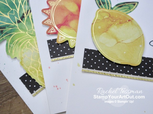 Here are a few more alternate cards that I gifted to a few of my lucky subscribers that I made with elements from the June 2020 Box of Sunshine Paper Pumpkin Kit, a sentiment from the Arrange A Wreath Stamp Set, and some Gold Metallic-Edged Ribbon. Click here for more photos, measurements, a supply list, and directions. - Stampin' Up!® - Stamp Your Art Out! www.stampyourartout.com