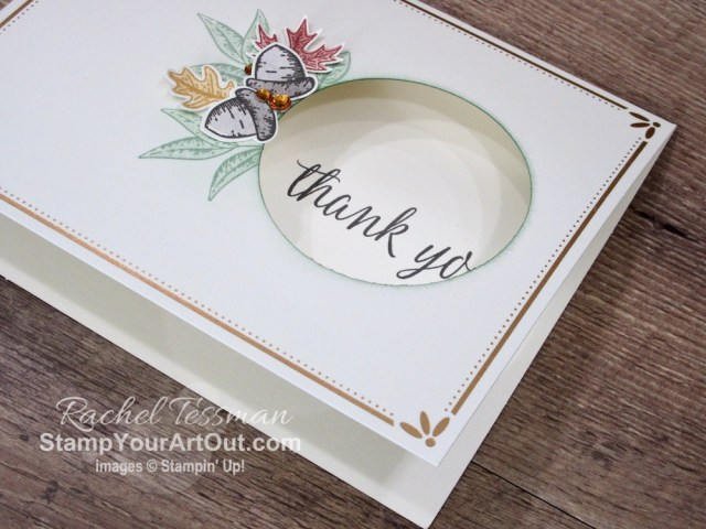 Make some pretty yet simple window cards with the new Beautiful Autumn Stamp Set, coordinating Autumn Punch Pack, and Gold Cards & Envelopes from the Aug-Dec 2020 Mini Catalog! Click here to access details, more photos, tips, and links to the products I used. - Stampin' Up!® - Stamp Your Art Out! www.stampyourartout.com