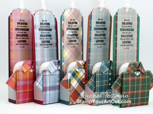 Click here to see how to make a fantastic start-to-the-school-year gift using images from the Rustic Retreat Stamp Set and a couple new products from the Aug-Dec 2020 Mini Catalog that just debuted: Plaid Tidings Designer Paper and Snowflake Splendor Ribbon. You'll be able to access measurements, the how-to video for doubling the kit, other close-up photos, and links to the products I used. - Stampin' Up!® - Stamp Your Art Out! www.stampyourartout.com