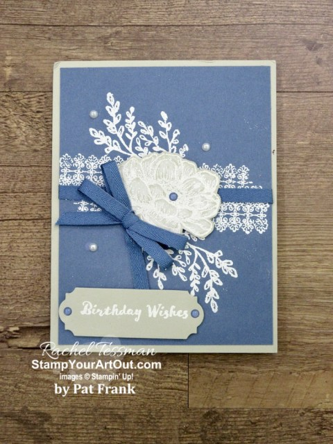 I've been receiving more cards, and I want to share them with you! These are birthday cards I received. And I'm so excited to show off these great ideas. Click here to see all twenty-three cards that feature Stampin' Up! products. - Stampin' Up!® - Stamp Your Art Out! www.stampyourartout.com