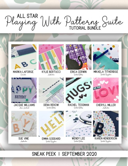 Here are the Playing With Patterns All Star Tutorial Bundle Peeks. Place an order in the month of September 2020 and get this bundle of 12 fabulous paper crafting project tutorials for free! Or purchase it for just $15. - Stampin' Up!® - Stamp Your Art Out! www.stampyourartout.com