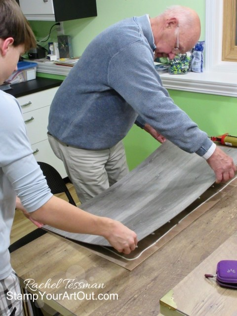 My dad made photo/video backdrop boards with plank flooring boards & ¼ inch plywood. Click here to get more details and see photos of the assembly process. - Stampin' Up!® - Stamp Your Art Out! www.stampyourartout.com