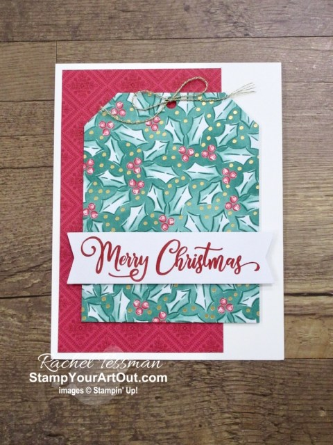 Get up to 95 holiday greeting cards from the Tag Buffet Project Kit! By just adding a few basic supplies: inks, tools, adhesives, some coordinating 'Tis the Season Designer Paper, gold embellishments, Whisper White cardstock, and envelopes to this all-inclusive kit, you can make your kit go far! Click here to access measurements, a how-to video with tips and tricks, other close-up photos, and links to all the products I used. - Stampin' Up!® - Stamp Your Art Out! www.stampyourartout.com