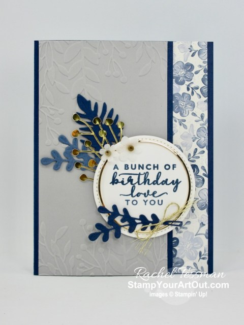 I CASEd a beautiful card given to me by Cheryl Lee using items from the Boho Indigo Product Medley and Forever Greenery Suite. Access directions, more photos, measurements, and links to all the products. - Stampin' Up!® - Stamp Your Art Out! www.stampyourartout.com
