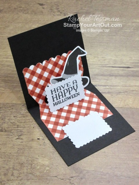"""I'm excited to share with you what I created with the September 2020 """"Hello Pumpkin"""" Paper Pumpkin Kit – varying the sizes of the boxes, doubling the treat containers to get 40, napkin ring and luminary for fall dinner, and several pop-up cards including a multi pop-up gate fold card! Click here for photos of all these projects, a video with directions, measurements and tips for making them, and a complete product list linked to my online store! Plus you can see several other alternate project ideas created with this kit by fellow Stampin' Up! demonstrators in our blog hop: """"A Paper Pumpkin Thing""""! - Stampin' Up!® - Stamp Your Art Out! www.stampyourartout.com"""