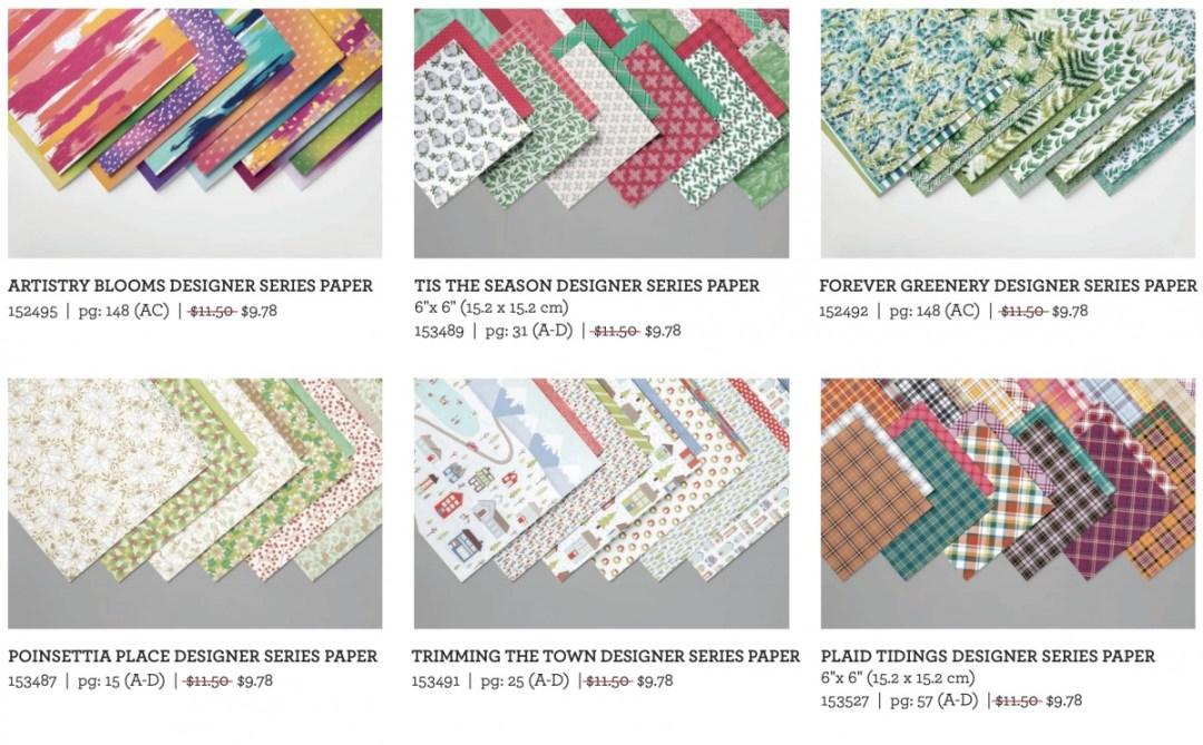 Stampin' Up!'s Designer Series Paper Sale – October 2020! - Stampin' Up!® - Stamp Your Art Out! www.stampyourartout.com