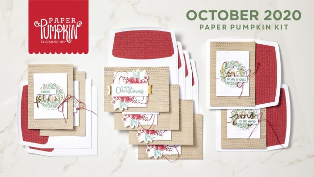 The October 2020 Joy To The World Paper Pumpkin Kit. - Stampin' Up!® - Stamp Your Art Out! www.stampyourartout.com