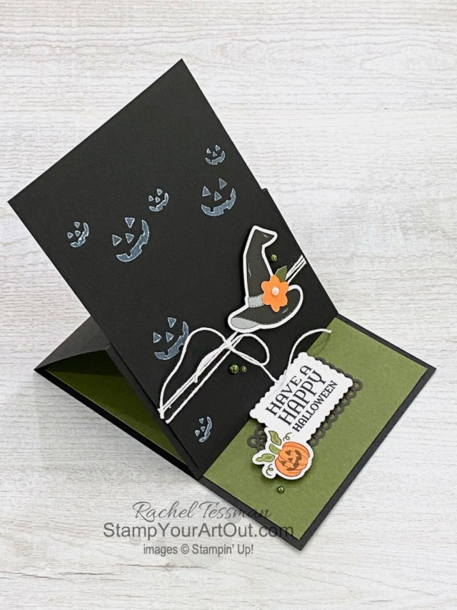 "I'm excited to share with you a few more projects I created with the September 2020 ""Hello Pumpkin"" Paper Pumpkin Kit – a 12x12 scrapbook page, a few hand sanitizer holders, and a fun Halloween easel card! Click here for photos of all these projects, a video with directions, measurements and tips for making them, and a complete product list linked to my online store! - Stampin' Up!® - Stamp Your Art Out! www.stampyourartout.com"