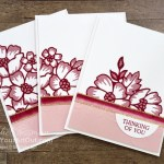 Assemble the die-cut Layered Blossoms, then cut into three parts for building three beautiful cards. Access more photos, measurements, directions, a downloadable PDF, and a supply list by clicking here. Stampin' Up!® - Stamp Your Art Out! www.stampyourartout.com