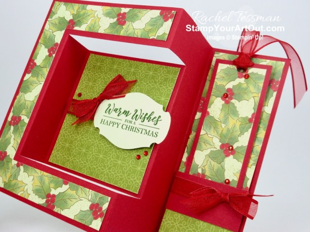 Click here to see how to make a uniquely folded card that I'm calling a bookshelf card. I used the Best Year Stamp Set, the Poinsettia Place Designer Paper, and some beautiful coordinating products to make my four versions. (I was inspired by a card fellow Stampin' Up! demonstrator, Teresa Brown shared in an exclusive FB group.) You'll be able to access measurements, the how-to video, other close-up photos, and links to the products I used. - Stampin' Up!® - Stamp Your Art Out! www.stampyourartout.com