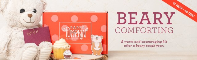 The December 2020 Beary Comforting Paper Pumpkin Kit. - Stampin' Up!® - Stamp Your Art Out! www.stampyourartout.com