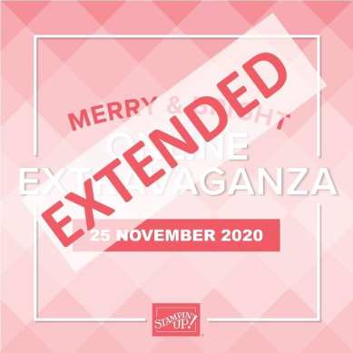 Shop the Merry & Bright Online Extravaganza extended through Wednesday, November 25, 2020! http://www.stampinup.com/?dbwsdemoid=25553 Everyone can get a 10% discount on their orders – customers, demonstrators, and even those purchasing the Starter Kit. Some exclusions apply. Click here for more details. Stampin' Up!® - Stamp Your Art Out! www.stampyourartout.com