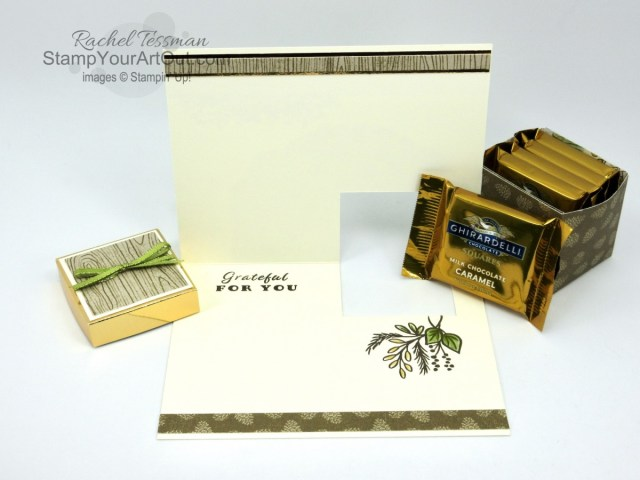 "Click here to see my Celebration Tidings version of the ""Gift Box In A Card"" project. This 3-D project was something I shared on my blog a little over three years ago. But this time I made them with the Celebration Tidings Stamp Set, Celebration Labels Dies, Poinsettia Place Designer Paper, and Brass Foil Paper. You'll be able to access measurements, a link to my how-to video, other close-up photos, and links to the products I used. - Stampin' Up!® - Stamp Your Art Out! www.stampyourartout.com"