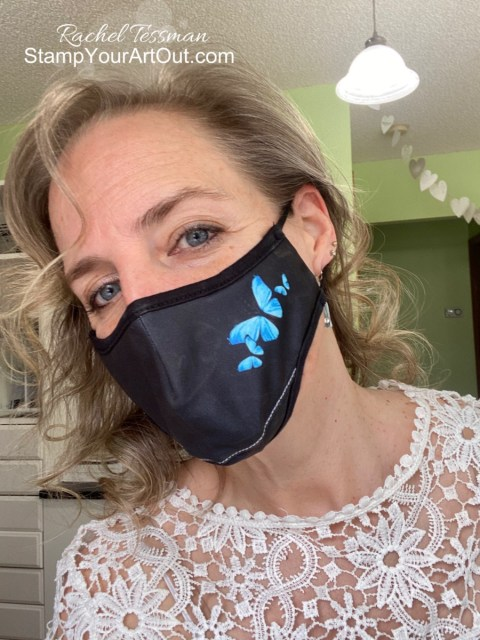 Sign of the times… Covid pandemic 2020. I had masks designed to match my website. - Stampin' Up!® - Stamp Your Art Out! www.stampyourartout.com