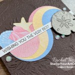 This is the Sand & Sea Suite Split Circle birthday card that we made during our Silver Elite Retreat December 2020. Access more photos, measurements, directions, and a supply list by clicking here. - Stampin' Up!® - Stamp Your Art Out! www.stampyourartout.com