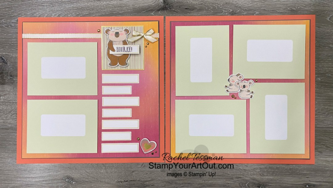 "I'm excited to show you a few more projects I made using the contents of the December 2020 Beary Comforting Paper Pumpkin kit and a few other products: a baby-themed scrapbook page layout and cute dresser drawer gift box AND an adorable ""get well soon"" fun fold card. Click here to access measurements, tips, more close-up photos, and links to the products I used.  - Stampin' Up!® - Stamp Your Art Out! www.stampyourartout.com"