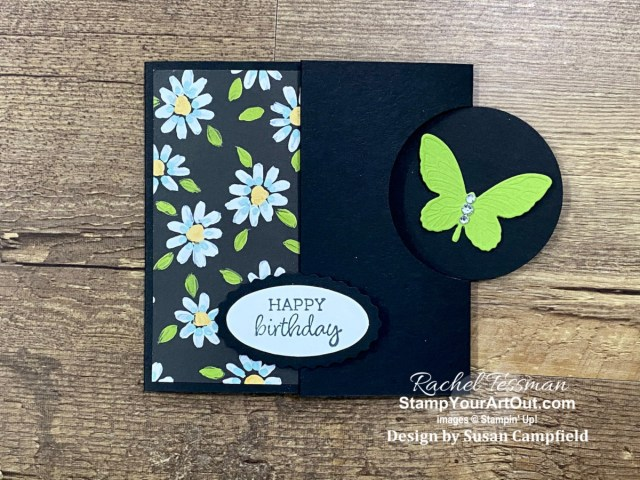 Click here to access measurements, other photos, links to the products I used, and tips and directions in my how-to video for making a Flap Fold Card. - Stampin' Up!® - Stamp Your Art Out! www.stampyourartout.com