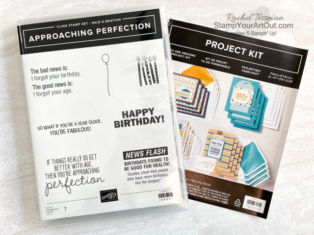 I've doubled another kit! Click here to see how I partnered the You Are Amazing card kit with the free Approaching Perfection Sale-a-Bration stamp set to get 32 instead of just 16 cards. Access measurements, more photos, a how-to video with directions, and links to the products I used. - Stampin' Up!® - Stamp Your Art Out! www.stampyourartout.com