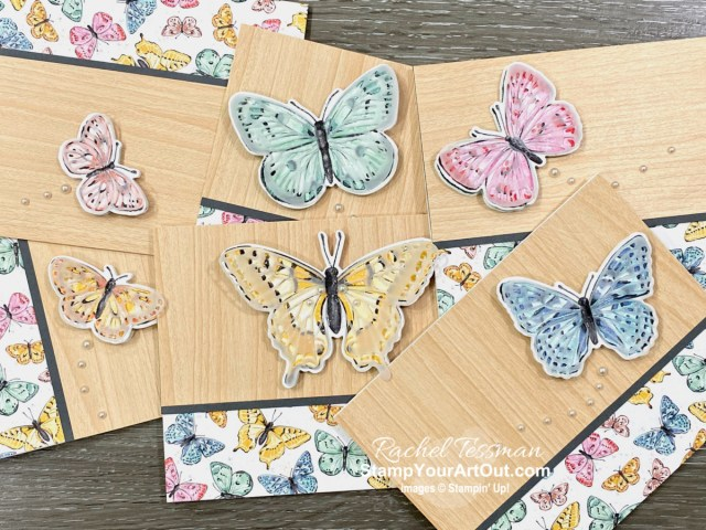 The butterflies appear to be flying off the surface of these cards! Click here to learn more about the new Butterfly Brilliance Collection available March 2 – May 3, 2021. Access more photos, measurements, directions, a downloadable PDF, and a supply list by clicking here. And follow the international blog hop to see even more ideas! Stampin' Up!® - Stamp Your Art Out! www.stampyourartout.com