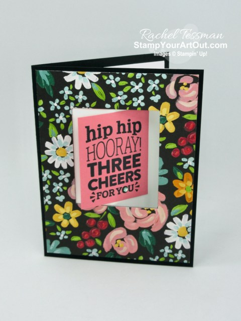 Here is a swing fold card I made using the You Are Amazing Stamp Set and the Flower & Field Designer Paper. Access more photos, measurements, directions (in a how-to video), tips, and a supply list by clicking here. - Stampin' Up!® - Stamp Your Art Out! www.stampyourartout.com