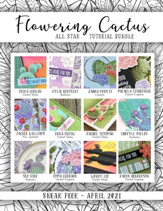 Here are the Flowering Cactus Medley All Star Tutorial Bundle Peeks. Place an order in the month of April 2021 and get this bundle of 12 fabulous paper crafting project tutorials for free! Or purchase it for just $15. - Stampin' Up!® - Stamp Your Art Out! www.stampyourartout.com