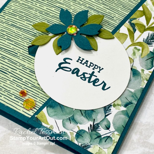 Click here to see how to make an interactive Sliding Lock Easter-themed card featuring the Arrange a Wreath Stamp Set, Forever Greenery Designer Paper, Wreath Builder Dies, the soon-to-be retiring 2019-21 In Color, Pretty Peacock (a favorite green that will be missed by many). Thank you, Chris Slogar for the inspiration! You'll be able to access measurements, the how-to video, other close-up photos, and links to the products I used. - Stampin' Up!® - Stamp Your Art Out! www.stampyourartout.com