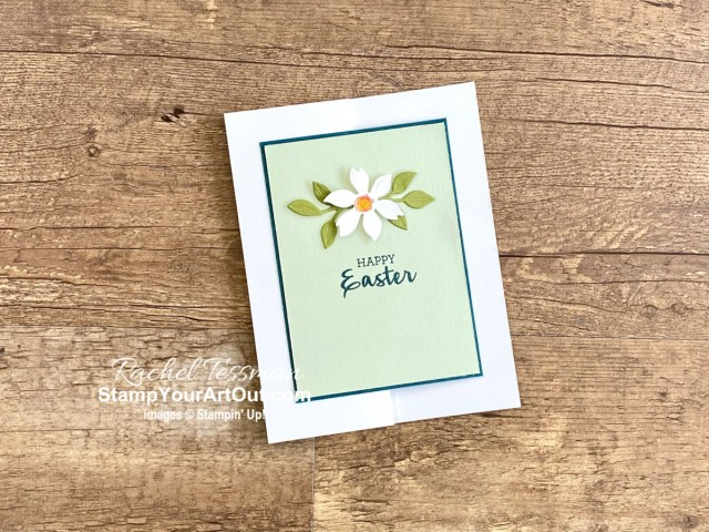 A simple z-fold Easter Card. Access measurements, directions, and a supply list by clicking here. Stampin' Up!® - Stamp Your Art Out! www.stampyourartout.com