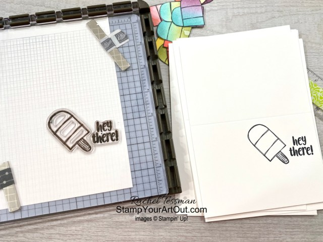 """I'm excited to share with you some cute cards and gift pouches I created with the April 2021 So Cool Paper Pumpkin Kit! Click here for photos, measurements, directions/tips for making them, and a complete product list linked to my online store. Plus, you can see several other alternate project ideas created with this kit by fellow Stampin' Up! demonstrators in our blog hop: """"A Paper Pumpkin Thing""""! - Stampin' Up!® - Stamp Your Art Out! www.stampyourartout.com"""
