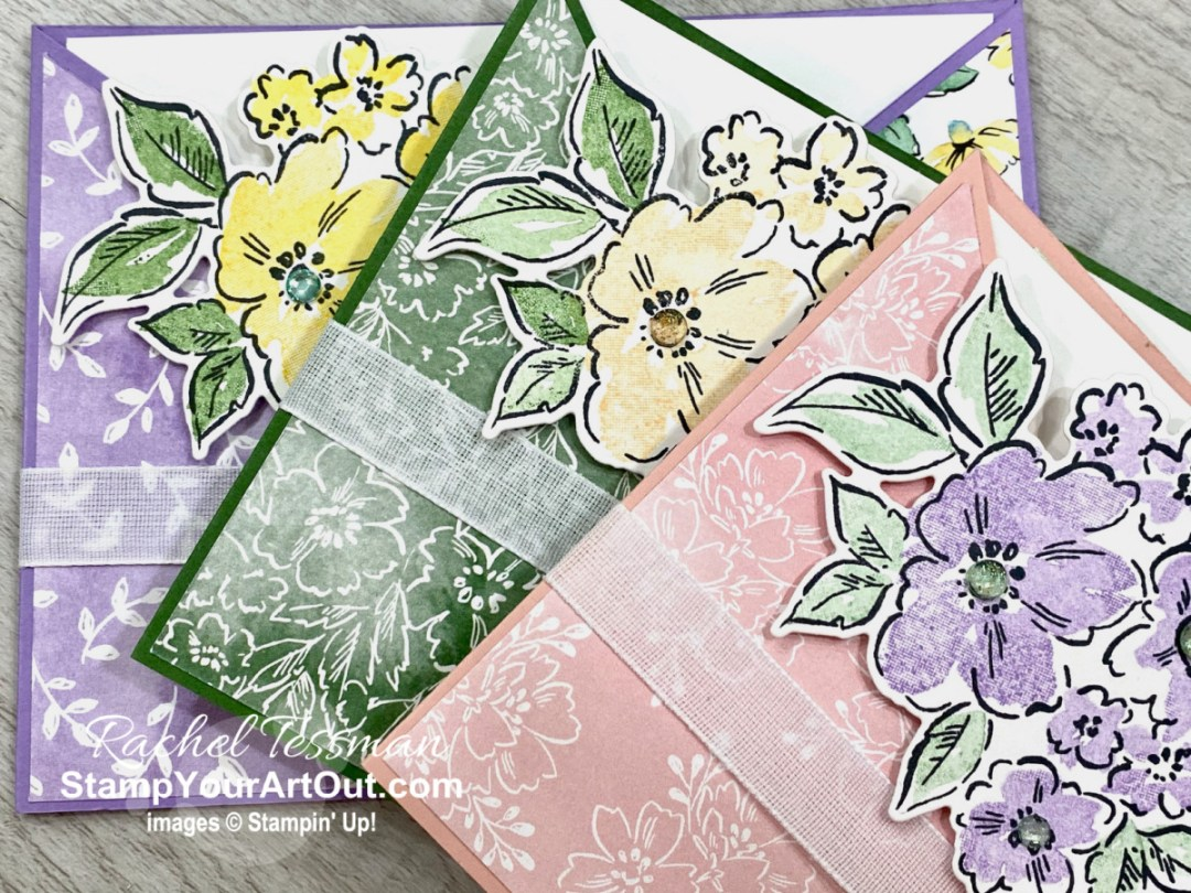 Click here to see how to make the Criss Cross pocket card using new products debuting in less than a week in the 2021-22 Annual Catalog: Hand-Penned Petals Stamp Set, Penned Flowers Dies, Genial Gems, and the Hand-Penned Designer Paper. Access measurements, more photos, a how-to video with directions, and links to the products I used. - Stampin' Up!® - Stamp Your Art Out! www.stampyourartout.com