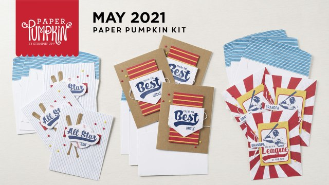 The May 2021 Batter Up Paper Paper Pumpkin Kit.  - Stampin' Up!® - Stamp Your Art Out! www.stampyourartout.com