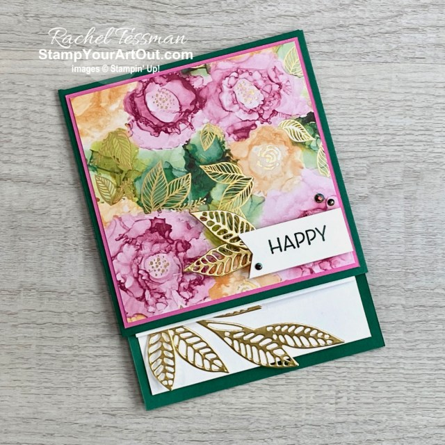 Click here to see how to make a Hidden Pop-Up Flap Fold Card using products from the beautiful Expressions In Ink Suite: Artistically Inked Stamp Set, Artistic Dies and Expressions In Ink Designer Paper. Access measurements, more photos, a how-to video with directions, and links to the products I used. - Stampin' Up!® - Stamp Your Art Out! www.stampyourartout.com