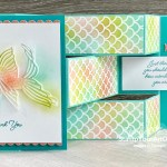 Click here to get step-by-step directions for making a fun-fold called a Tri-Fold Shutter Card using the Seascape Stamp Set, Sea Life Dies, and the Plenty of Patterns Decorative Masks. Access directions, measurements, a how-to video, and a list of products I used (linked to my online store). - Stampin' Up!® - Stamp Your Art Out! www.stampyourartout.com