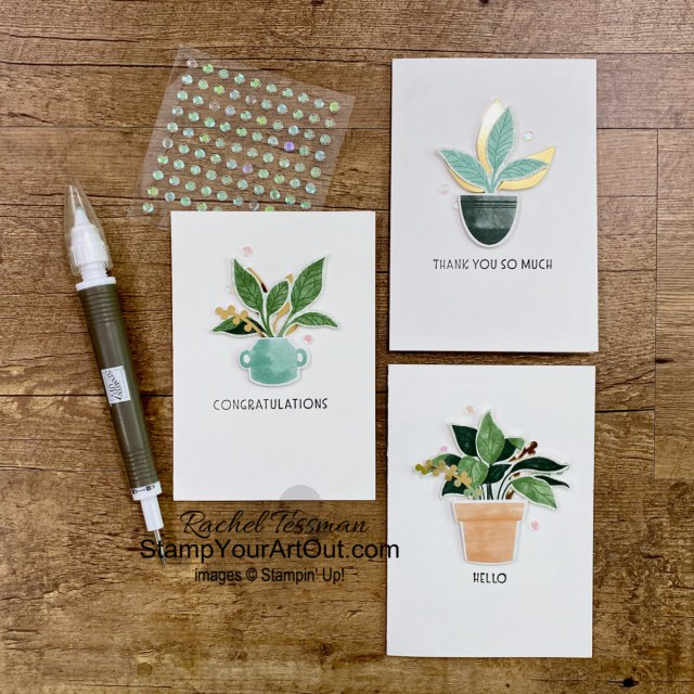 """Click here to see how to take a 12"""" x 12"""" sheet of designer paper and make a folded paper wallet that holds 3-1/2"""" x 5"""" note cards using the Inspired Thoughts Stamp Set, the Perfect Plants Dies, the Expressions in Ink Ephemera Pack, and the Bloom Where You're Planted Designer Paper. A big thank you to Jackie Ross for sharing her version of this during the 2021 Stampin' Up! Incentive Trip swap in Maui. Access measurements, more photos, a how-to video with directions, and links to the products I used. You will also see the swap cards I received, the swap boards, the gifts given to me by Stampin' Up! during the trip, and gifts I got from a few other fellow demonstrators. - Stampin' Up!® - Stamp Your Art Out! www.stampyourartout.com"""