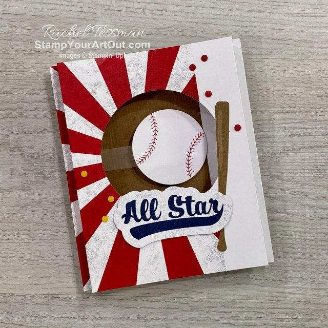 Click here to see more alternate projects that can be created with the contents of the May 2021 Batter up Paper Pumpkin Kit and a few extra Stampin' Up! supplies such as extra cardstock, the Tailored Tag punch, the Layering Circles Dies, a red marker, and more. Access measurements, more photos, a how-to video with directions, and links to the products I used.  - Stampin' Up!® - Stamp Your Art Out! www.stampyourartout.com
