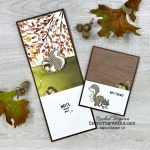 So fun! Check out my Simple Slide-Out Cards featuring the Nuts About Squirrels Stamp Set, the Beauty of the Earth Designer Series Paper, and the Subtle Shimmer Sequins. You'll be able to access measurements, a how-to video, other close-up photos, and links to the products I used. - Stampin' Up!® - Stamp Your Art Out! www.stampyourartout.com